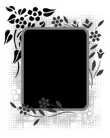 stencilled-flower-frame